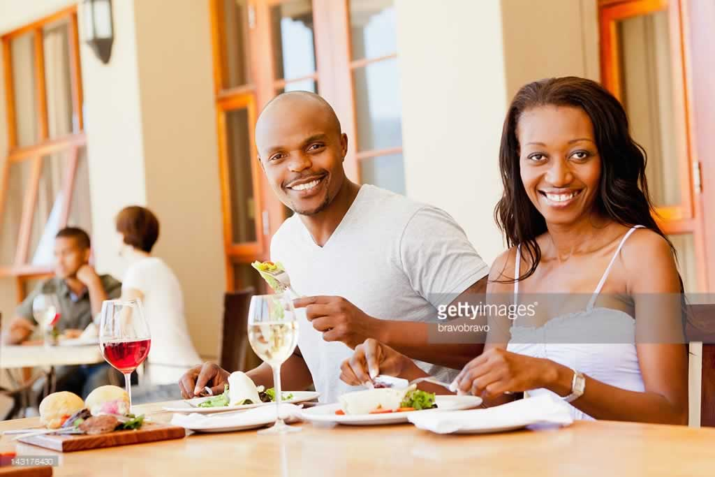An African couple been served