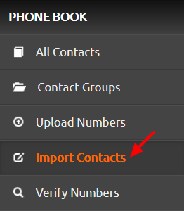 import contacts icon